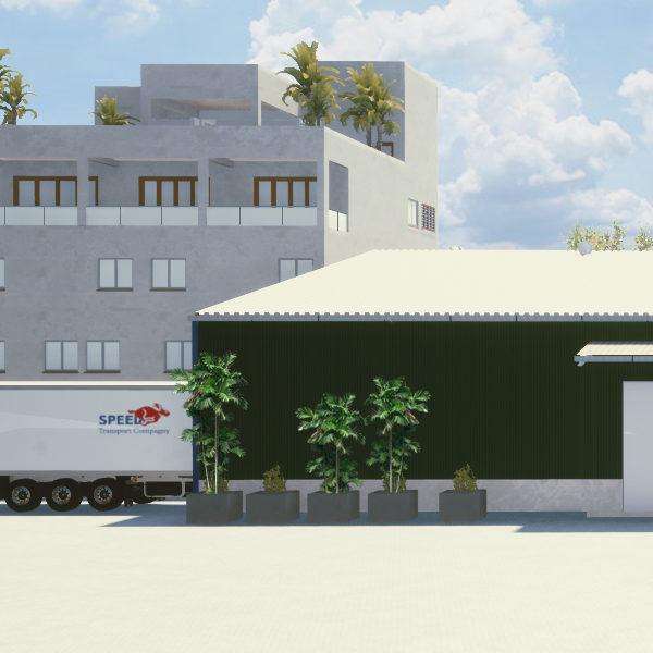 Warehousing for grading line